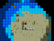 0.4 Tiles screenshot of the Shoals (then only reachable in wizard mode)