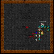 tiles screenshot of Gastronok and Khufu battling in the arena
