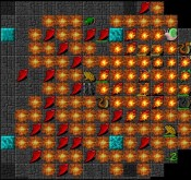 tiles screenshot of a Necromutation char firestorming everything