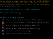 Tiles screenshot of the savegame menu