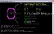 ASCII screenshot of someone getting the orb of Zot