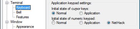Setting Numeric Keypad to Nethack