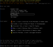 0.8 development, starting menu